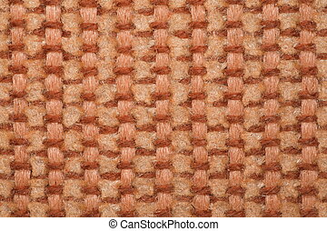 fragment pile carpet with nap coarse texture, brown-yellow...
