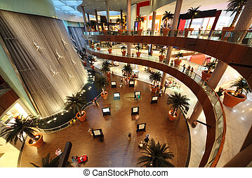 DUBAI - APRIL 18: Interior View of Dubai Mall, one of...