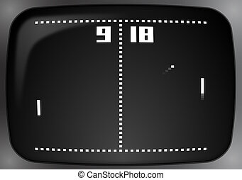 Pong on very old CRT television