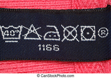 Symbols on label clothes showing as it is necessary to look...