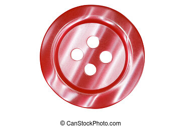 dark red button for clothes isolated on white background
