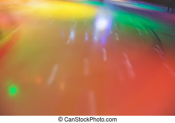 Multi-coloured blured abstract skating rink in movement