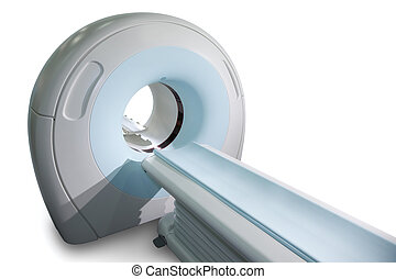 Complete CAT Scan System in a Hospital Environment. Magnetic...