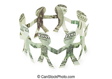 dollars little people cutouts dance in ring