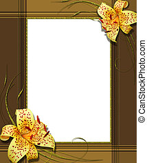 portrait frame with lily collage