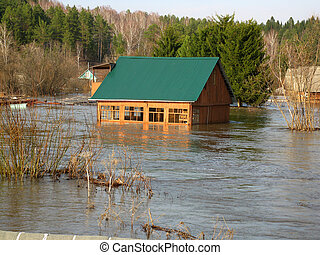 spring flood - This is photo of spring flood in village...