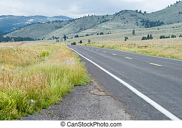 Empty Road Sangre De Christo Mountains New Mexico - Empty...