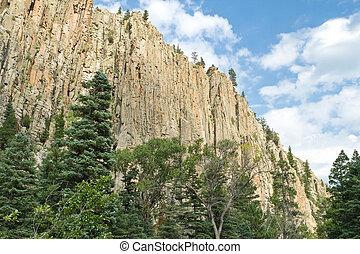 Cimarron Canyon State Park Palisade Cliff Sangre de Cristo...