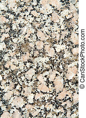 Full Frame Close-Up of Polished, Black and White Granite...