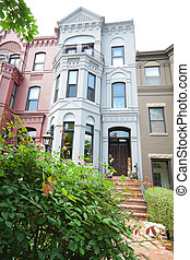 Italianate Renaissance Revival row homes, Washington DC Shot...