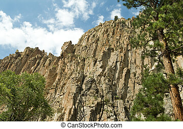 Palisade cliff in Cimarron Canyon State Park, New Mexico...