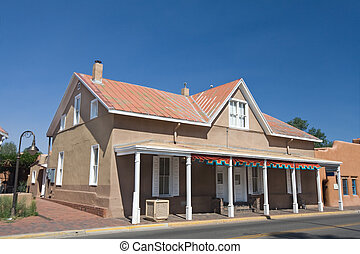 General Store In Santa Fe, New Mexico Blue Sky - General...
