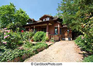 Single Family Home with Garden in Santa Fe, New Mexico, USA...