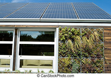 Solar House PV Panels Gray Water Recovery System - Log cabin...