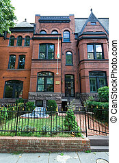Victorian Row Home Tajikistan Embassy Washington - Brick...