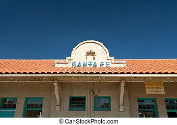Roof Sign for the Santa Fe, New Mexico Train Station, United...