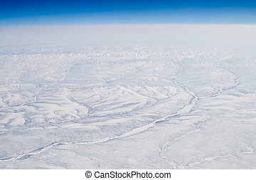 Snow Covered Verkhoyansk Mountains Olenyok River - Snow...