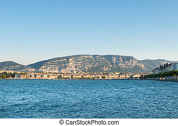 Lake and City of Geneva, Switzerland, Mont Saleve Le Sal?ve...