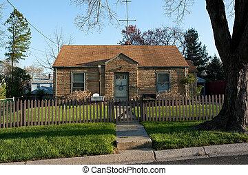 Formstone Facade Cape Code House - Cape Cod style single...