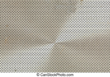 Full Frame Abstract of an Old Metal Speaker Screen - Closeup...
