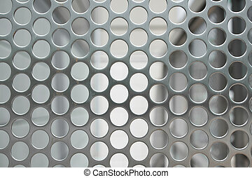 Full Frame Shiny Silver Metal Mesh Grid With Holes - Full...