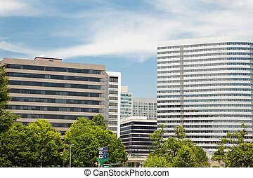 Modern Office Buildings Downtown Rossyln, Virginia, VA -...