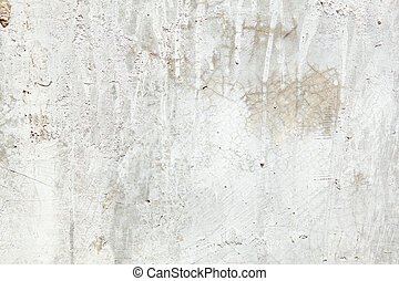 Full Frame Grungy Dirty Painted Cement Wall with Dripping...