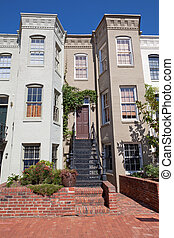 Tidy Italianate Style Row House Home Capitol Hill,...
