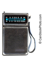 Black Plastic Radio Isolated