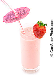 Strawberry protein cocktail