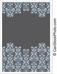 Vector Double Victorian Border Background