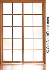 Sliding glass door in japan style
