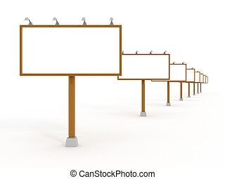 muitos,  Billboards, Ao ar livre, isolado, branca