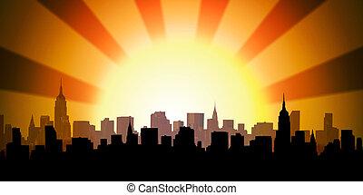USA cityscape