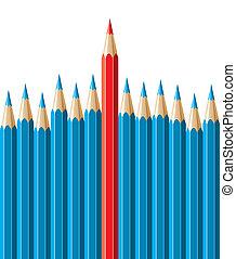 pencils, leadership concept