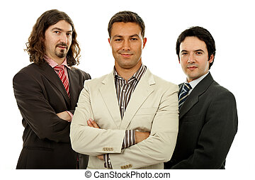 team - three business men isolated on white background