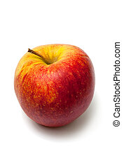 apple James Grieve - isolated red apple James Grieve on...