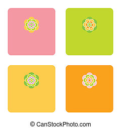 Greeting cards - Floral cards with copy space