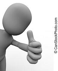 Thumbs up - Cartoon like illustration of thumbs up symbol