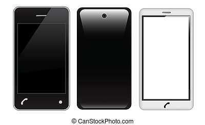 Touch screen smart phone - Vector touch screen smart phone