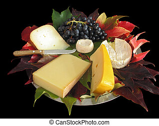 francais, fromage, plat