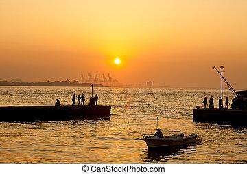 Danshui Dist sunset, Taiwan