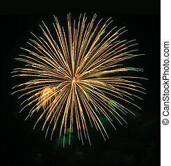 Very high quality firework with long exposure time