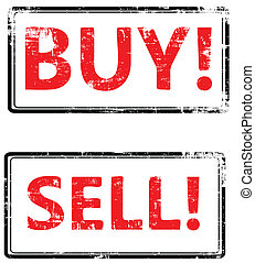 Vector buy end sell stamp - the grunge Vector buy end sell...