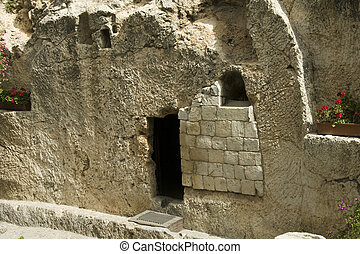 jesus christ tomb israel - place of the resurrection of...