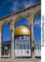mosk with the copper roof in jerusalem, israel - Jerusalem -...