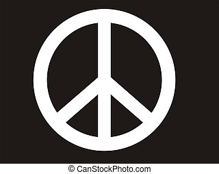 peace symbol - traditional illustration of peace symbol in...