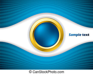 Abstract eye with gold ring background design