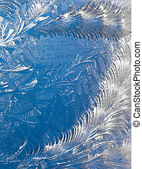 Abstract window frost background