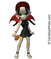 Cute Toon Halloween Devil